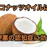 【今話題】脳梗塞後遺症の認知症にココナッツオイルは効果ある?